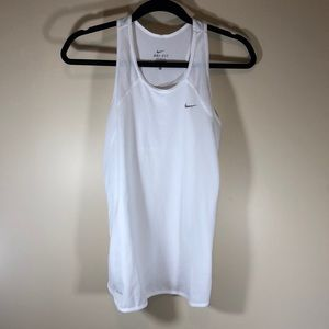 Ln NIKE Dri-Fit white tank size large
